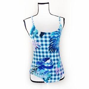 6 Shore Road swimsuit one piece checkered Medium